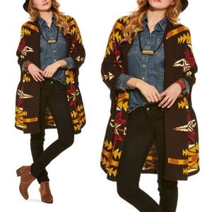 Pendleton  poncho cape cardigan duster sweater